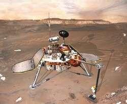 Représentation de la sonde Mars Polar Lander