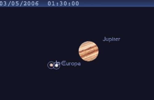 Les satellites Europe et Io se frôlent