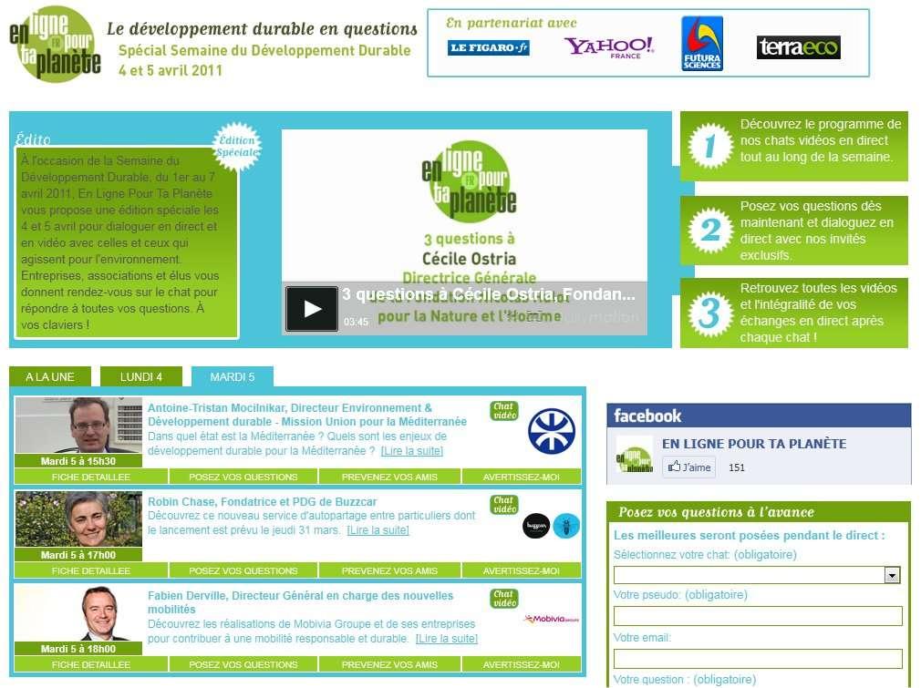 L'opération En ligne pour ta planète a commencé ; regardez le programme ! © En ligne pour ta planète