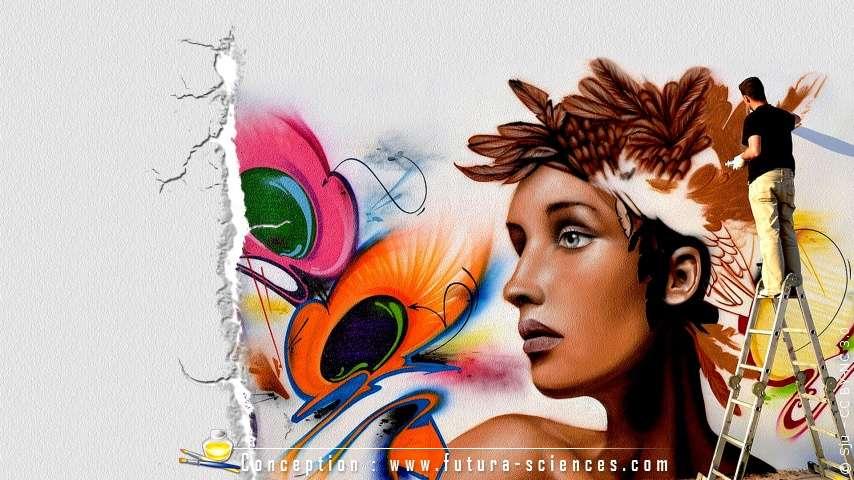 Le graffiti s'invite dans les galeries de fonds d'écran Futura-Sciences. Venez découvrir nos nouveautés. © Futura-Sciences