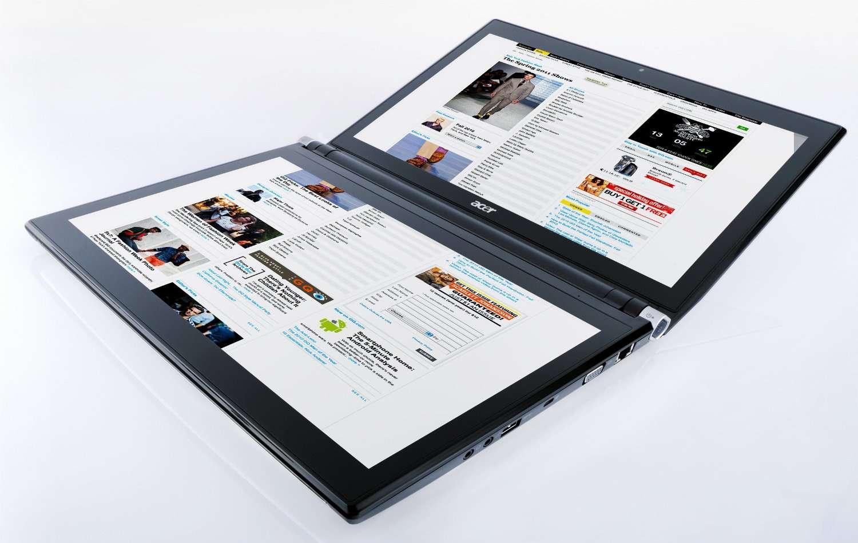 Comment doit-on désigner l'Iconia, comme une tablette double ou comme une tablette pliable ? © Acer