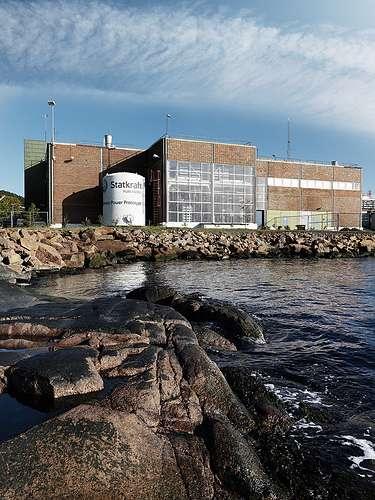 La centrale prototype de Tofte, qui utilise l'eau du fjord comme source d'eau salée pour sa production d'électricité par osmose. © Statkraft CC by-nc-nd