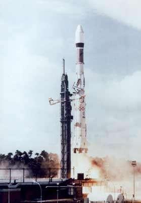 Le premier vol d'Ariane, le 24 décembre 1979. © E.A.D.S.