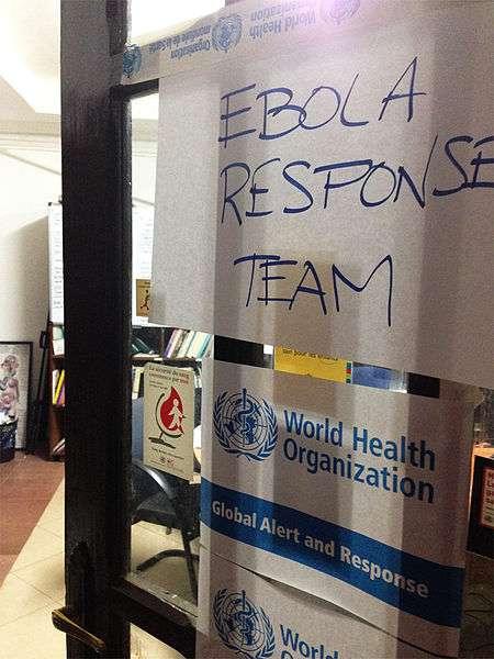 Dans une feuille de route, l'OMS décrit les actions à mener pour enrayer l'épidémie d'Ebola. © CDC/Daniel J. DeNoon, Wikimedia Commons, DP