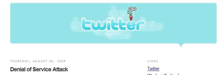 La première grande panne pour Twitter, qui permet de mesurer la popularité acquise par ce service.