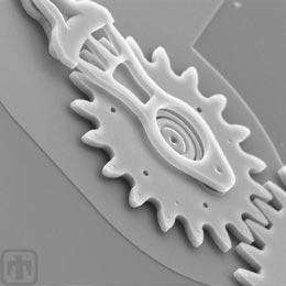 Un engrenage de quelques microns. © Sandia National Laboratories, SUMMiTTM Technologies