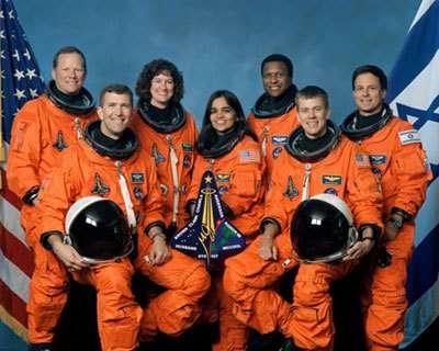 L'équipage qui a péri dans la désintégration de Columbia (mission STS-107). Crédit : NASA
