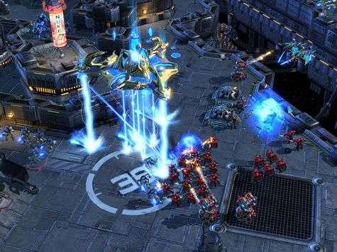 Extrait de la présentation de StarCraft II par Blizzard.