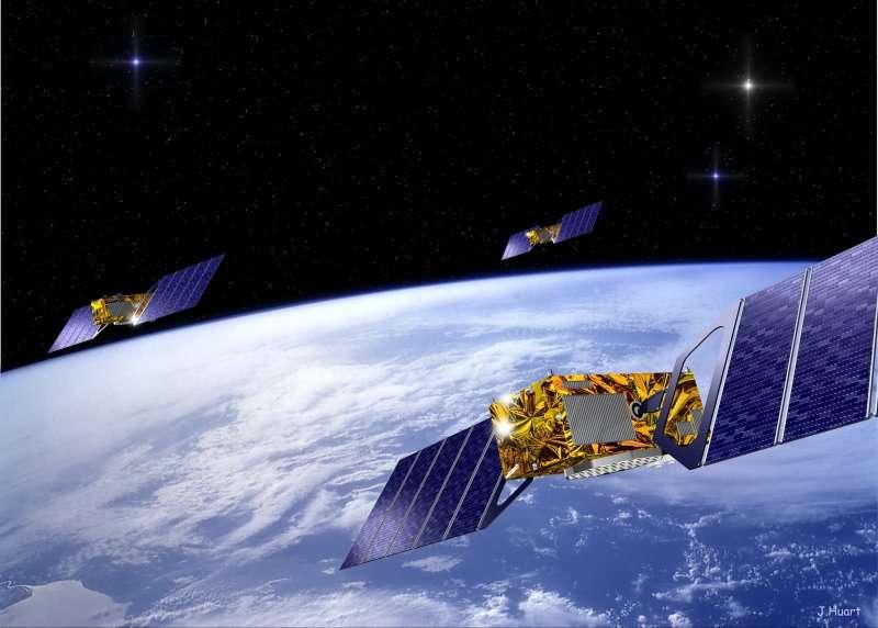 Les satellites du système Galileo, le futur système de navigation par satellite de l'Europe. © DR