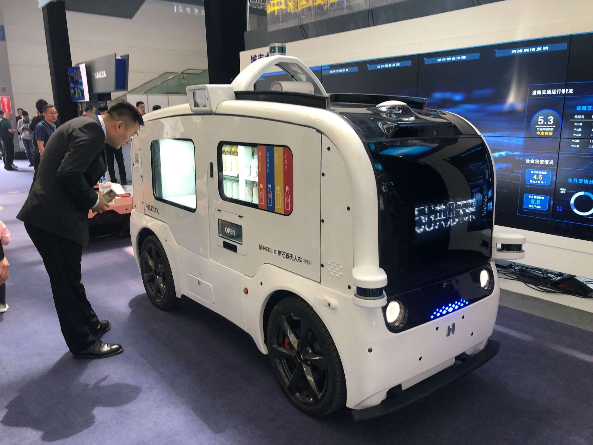 Ces deux derniers mois, la startup chinoise Neolix a enregistré une forte demande de camionnettes de livraison autonomes. © Courtesy of Neolix