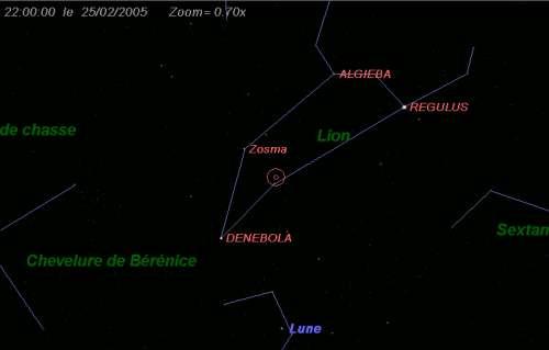 Maximum de l'essaim des météores des delta-Léonides