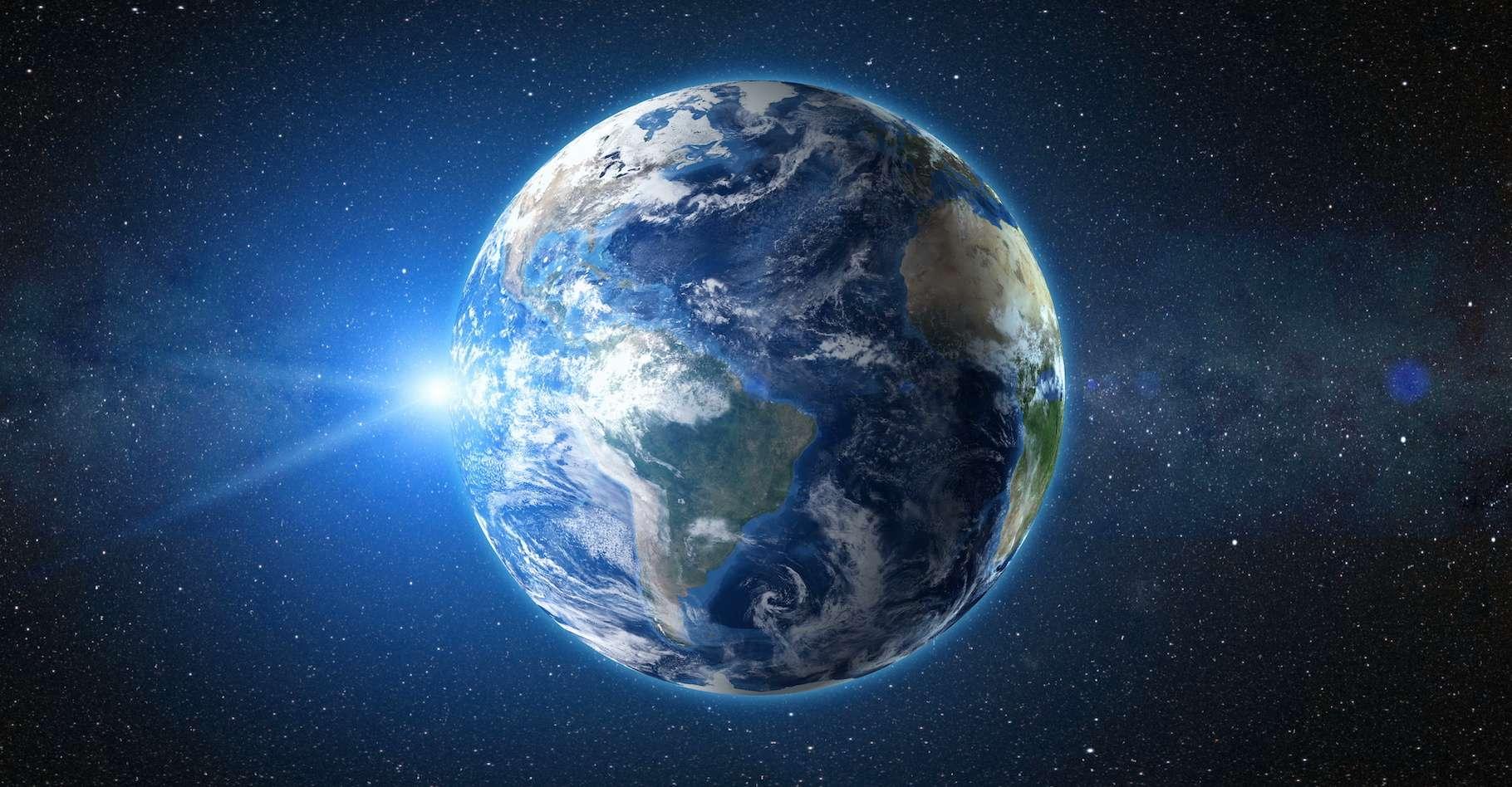 La Terre, planète bleue. Sans son eau, elle présenterait à un tout autre visage. © Goinyk, Adobe Stock