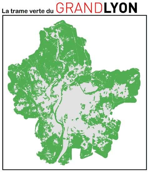 La trame verte et bleue vise à protéger la biodiversité. Ici, la trame verte du Grand Lyon. © Communauté urbaine de Lyon