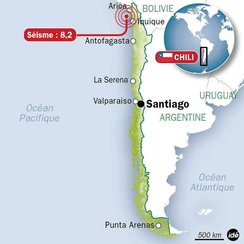 Le Chili, habitué des tremblements de terre étant donné sa proximité avec ce que les spécialistes appellent la ceinture de feu, vient de vivre un séisme meurtrier dans le nord du pays, de magnitude 8,2. © Idé