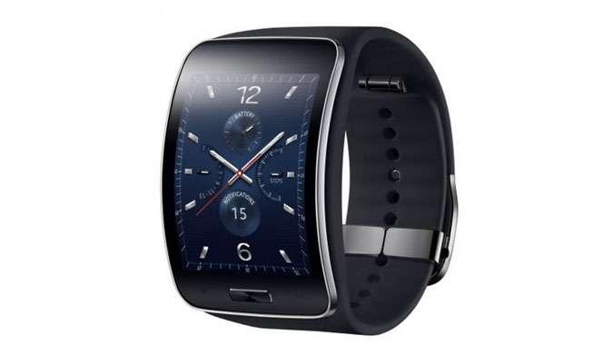 A l'occasion du salon IFA 2014, Samsung dévoile sa troisième montre connectée, la Gear S. © Samsung