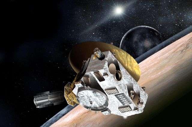 La sonde New Horizons a survolé Pluton le 14 juillet 2015. Elle se dirige à présent vers la ceinture de Kuiper pour visiter 2014 MU69. © Nasa