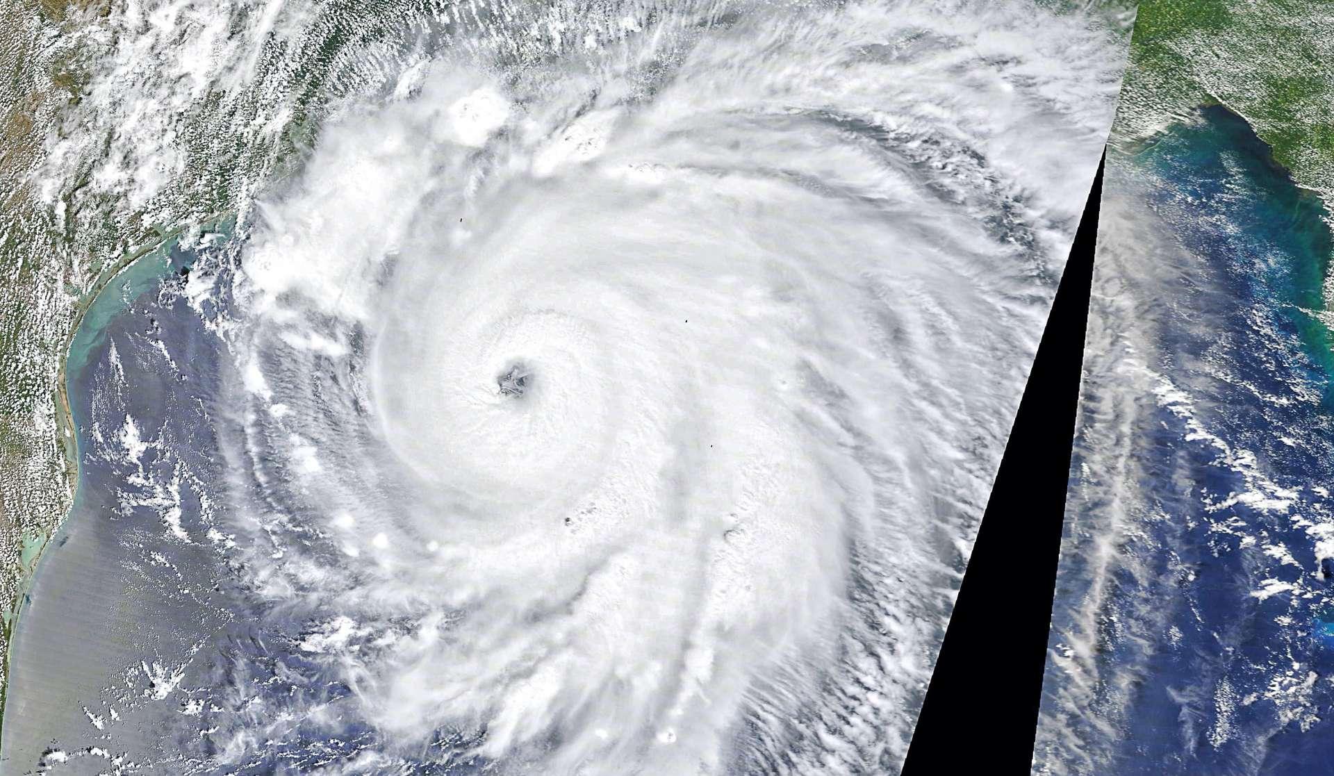 L'ouragan Laura, le 12e de cette saison et le plus puissant à ce jour, vu de l'espace le 26 août 2020. © Nasa