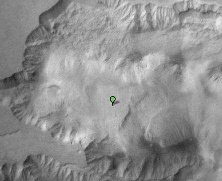 Les dunes Ophir Chasma, vues par Google Mars. © Nasa/JPL/Arizona State University