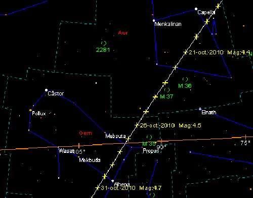 La comète Hartley 2 est au plus près de la Terre