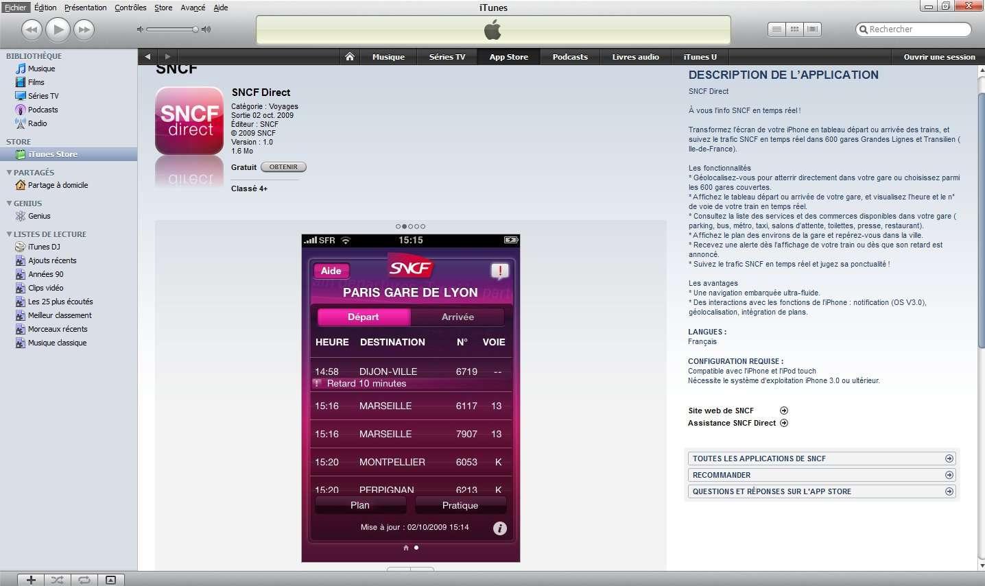 L'application disponible sur l'AppStore. © Futura-Techno