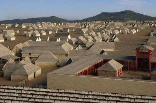 Reconstitution 3D de la cité de Corent vers 80 av. J.-C., créée à partir des fouilles menées par M. Poux. Visite virtuelle ici. © Conseil Général du Puy–de-Dôme, Court-jus production