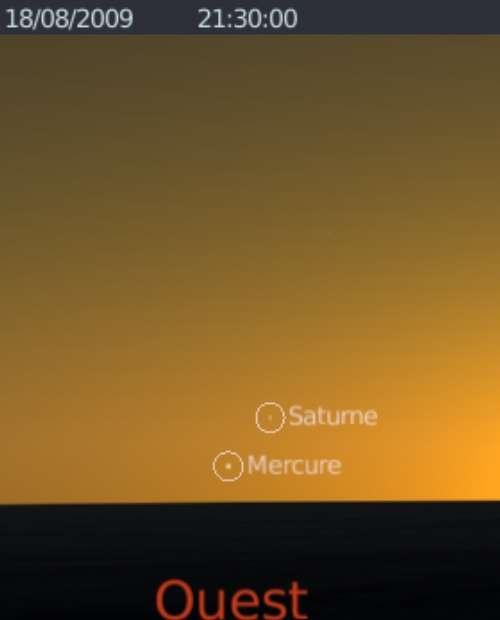 Les planètes Mercure et Saturne sont en rapprochement