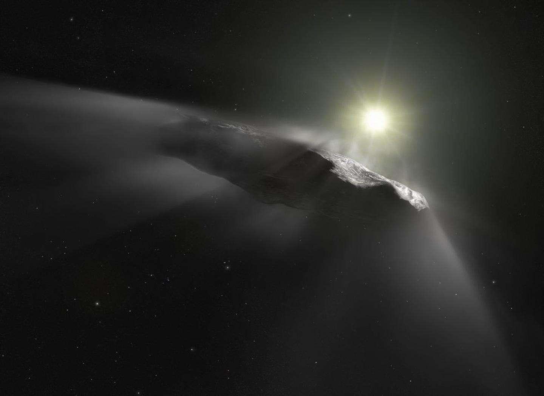 L'objet interstellaire 'Oumuamua n'émet toujours aucun signal radio susceptible d'indiquer qu'il est de fabrication extraterrestre, d'après les résultats de la dernière campagne d'écoute du Seti. © ESA/Hubble, NASA, ESO, M. Kornmesser