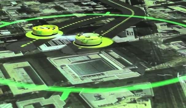 Par réalité augmentée, il est possible de visualiser le cheminement suivi par l'algorithme d'un robot autonome. Baptisée mesureable virtual reality, cette technique pourrait grandement faciliter le travail des développeurs de drones et autres véhicules autonomes en leur montrant les erreurs commises. © Massachusetts Institute of Technology
