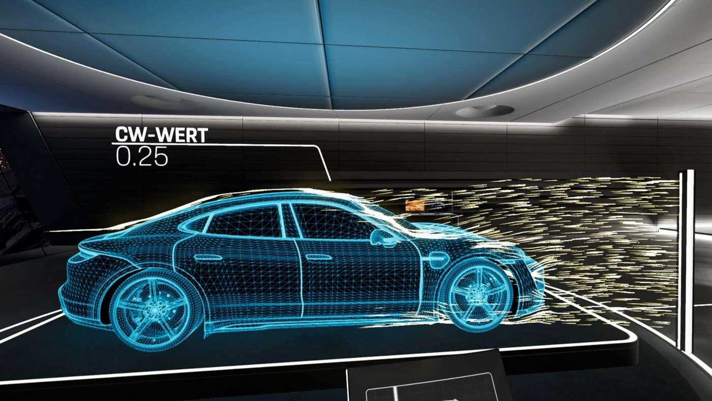 L'expérience Taycan VR est à découvrir dans les centres Porsche. © Porsche