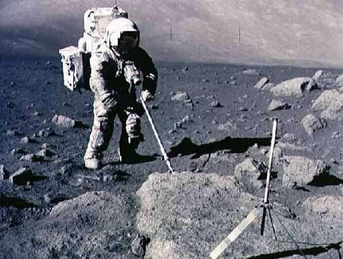 Harrison Schmitt, le seul scientifique à avoir marché sur la Lune, était un géologue. Crédit Nasa