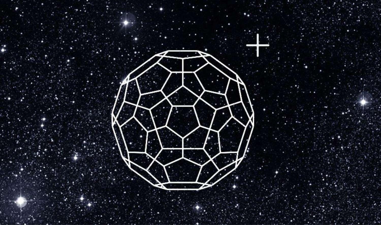 Harold Walter Kroto est un chimiste britannique, colauréat du prix Nobel de chimie de 1996 pour la découverte des fullerènes. Il est célèbre pour l'un d'entre eux en particulier, le buckminsterfullerène. Ici, une image d'artiste illustrant la présence, longtemps soupçonnée, de cette molécule dans le milieu interstellaire (MI). © Universität Basel