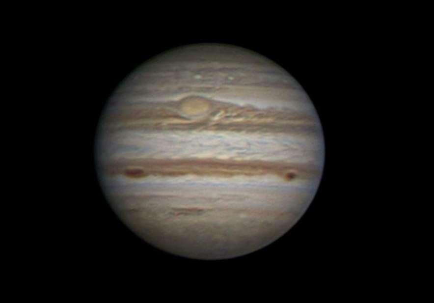 Jupiter le 24 septembre 2011. La Grande Tache Rouge est parfaitement visible. © R. Morini