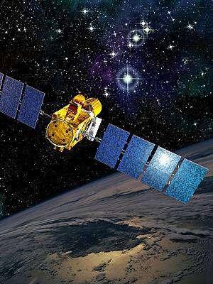 Le satellite Corot (vue d'artiste). Crédit ESA.