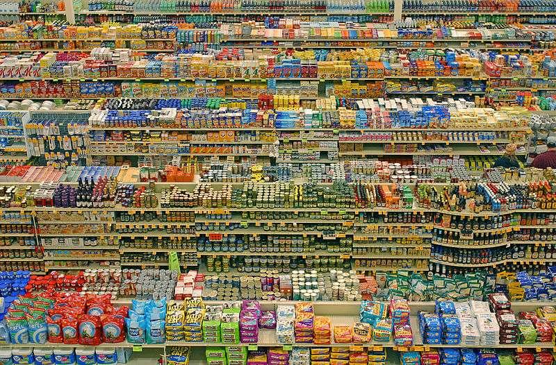 Les additifs alimentaires sont présents dans un très grand nombre de produits alimentaires industriels. © Lyzadanger, Wikimedia, CC by-sa 2.0