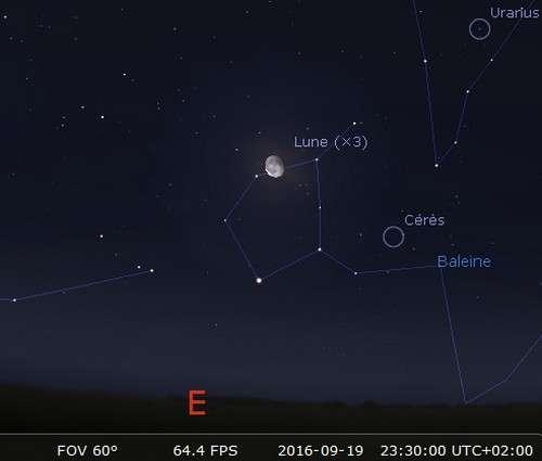 La Lune en rapprochement avec Cérès. © Futura-Sciences