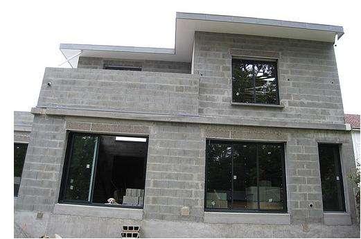 Maison en construction. Crédits : DR