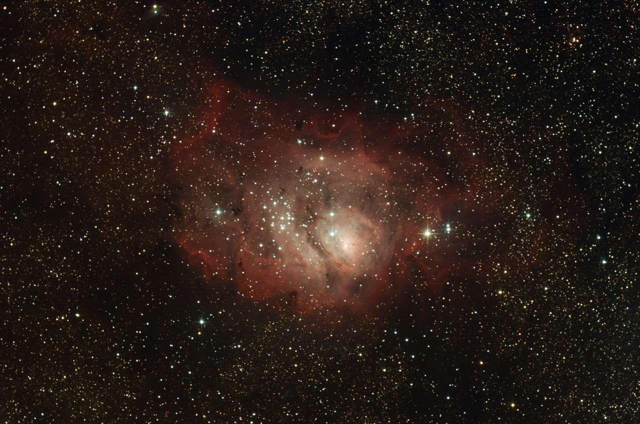 Messier 8 photographiée par un astronome amateur. © G. Bauza