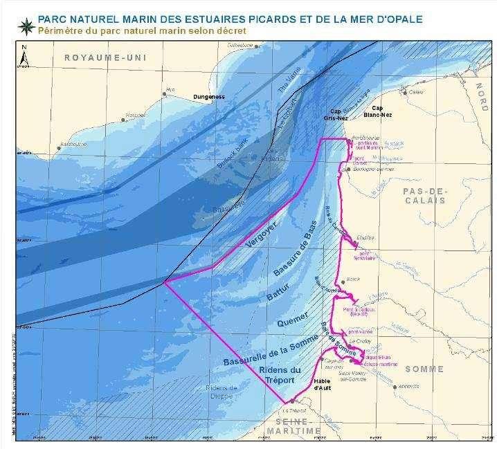 Le Parc naturel marin des estuaires picards et de la mer d'Opale s'étend sur 2.300 km² et borde la côte de la Seine maritime jusqu'à quelques encâblures du cap Gris-Nez. © DR