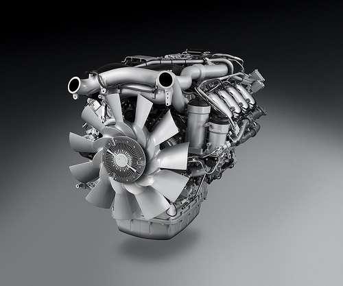 Moteur de poids-lourd respectant la norme Euro 5. © Groupe Scania CC by-nc-nd 2.0