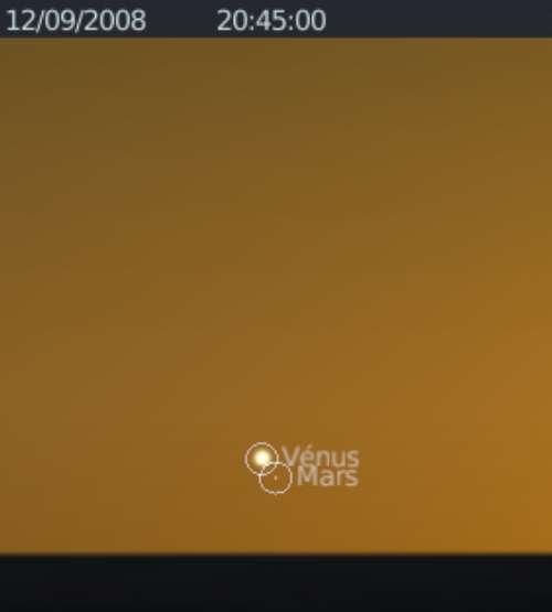 La planète Vénus est en rapprochement avec la planète Mars