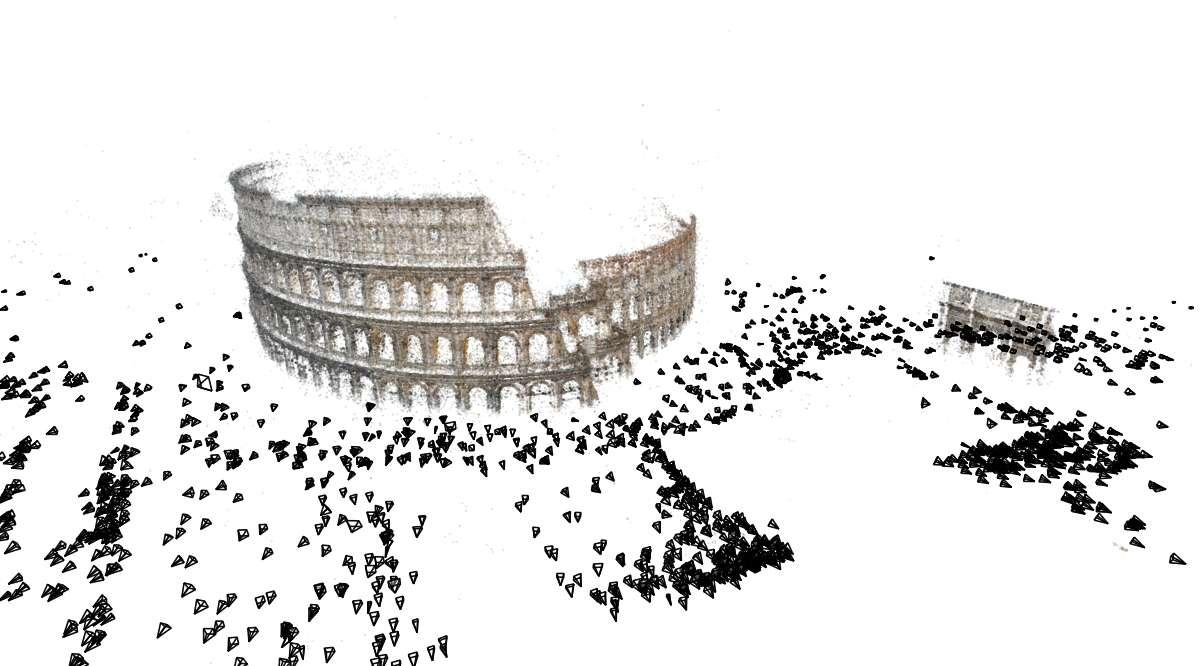 Le Colisée, reconstruit à partir de 2.106 images. © Graphics and Imaging Laboratory/U. of Washington