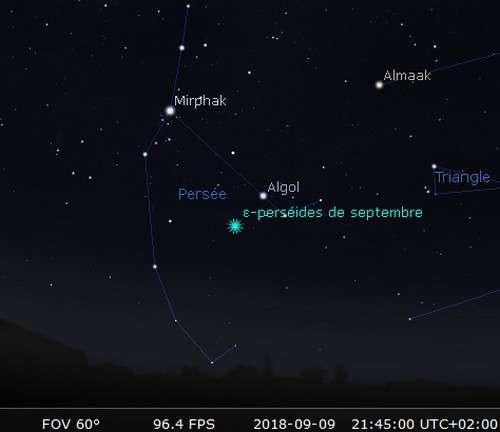Maximum de l'essaim météoritique des Perséides de septembre