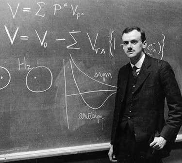 Le prix Nobel de physique Paul Dirac avait découvert une nouvelle théorie décrivant un gaz d'électrons à l'aide d'une statistique dite aujourd'hui de Fermi-Dirac. Grâce à elle, Arnold Sommerfeld a fait progresser la compréhension de la conduction des métaux, en attendant les travaux de Félix Bloch et Alan Herries Wilson. Dirac a aussi découvert l'équation décrivant le comportement quantique et relativiste des électrons. Remarquablement, dans le graphène, les électrons de Dirac se comportent comme des fermions de masse nulle. On vient de découvrir des cousins de ces fermions dans un alliage. © AIP, Emilio Sergè Visual Archives