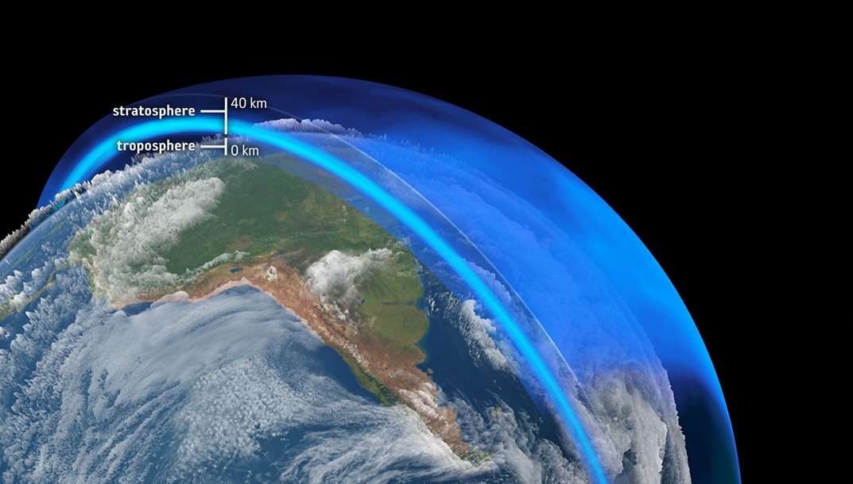 La couche d'ozone surveillée par les satellites