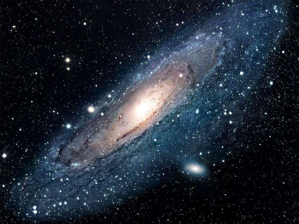 La galaxie d'Andromède. Il s'agit de la galaxie la plus proche de la Voie lactée. © Nasa