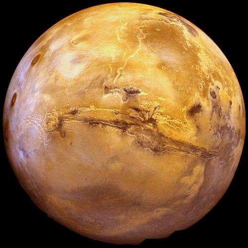 La surface de Mars vue par les sondes spatiales. Crédit : Nasa