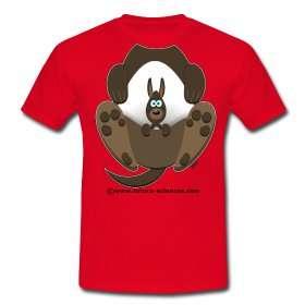 Dans la peau d'un kangourou avec les T-shirts de la collection métamorphoses. © Futura-Sciences