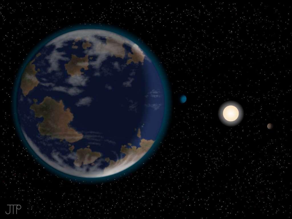 HD40307g se situe à seulement 42 années-lumière de la Terre ce qui en fait une cible de choix pour la prochaine génération de télescopes terrestres de grandes tailles en cours de développement et les futures missions spatiales, comme Cheops (Esa). © J. Pinfield (Ropacs network at the University of Hertfordshire)