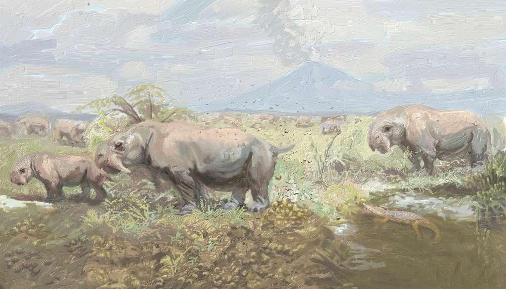 Les latrines communautaires des Dinodontosaurus pourraient avoir joué un rôle de communication, en informant les prédateurs sur le nombre de proies prêtes à se défendre qu'ils risquaient de rencontrer. © Emilio López Rolandi