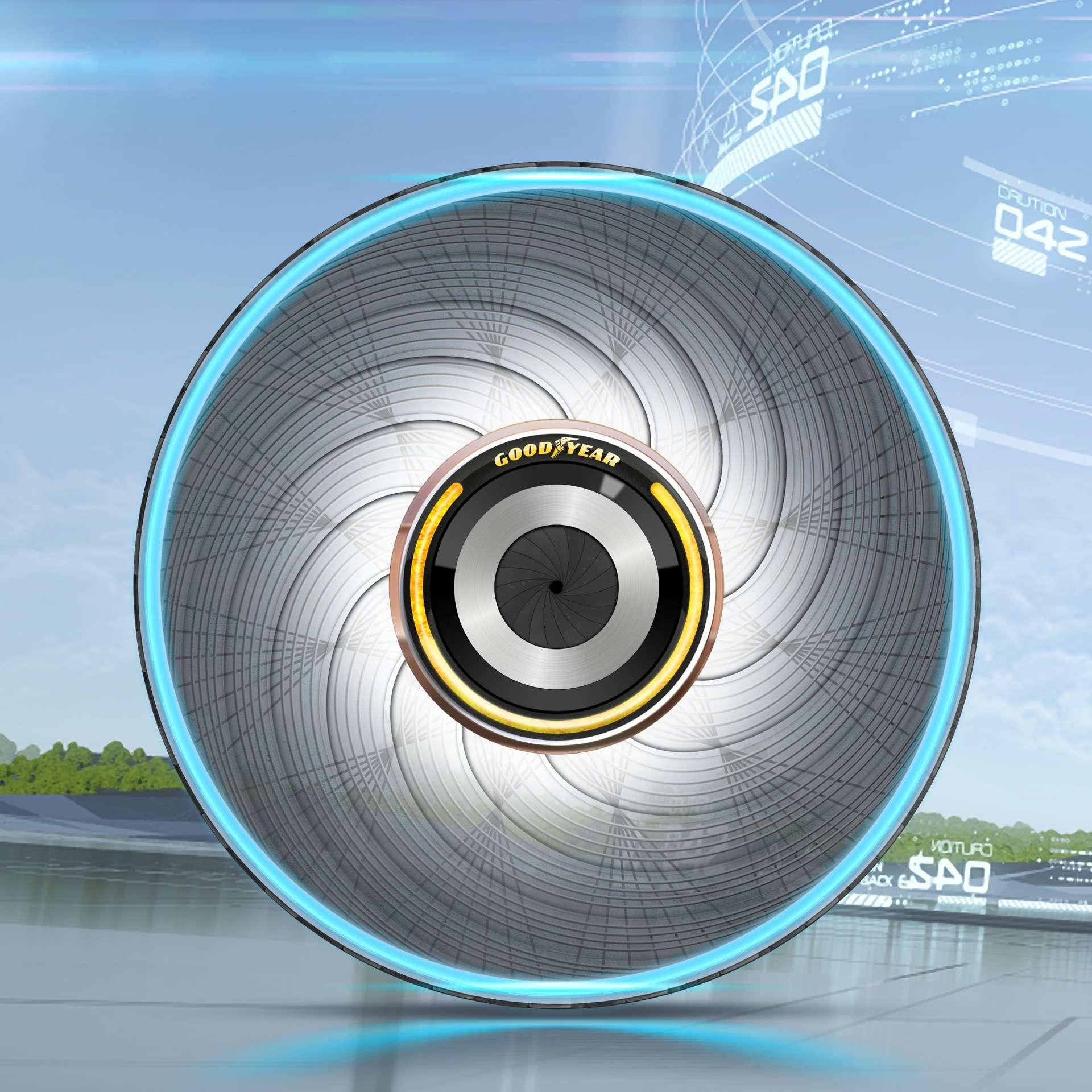 Goodyear dévoile son dernier concept de pneu d'auto-régénération révolutionnaire, équipé de capsules personnalisées. © Goodyear